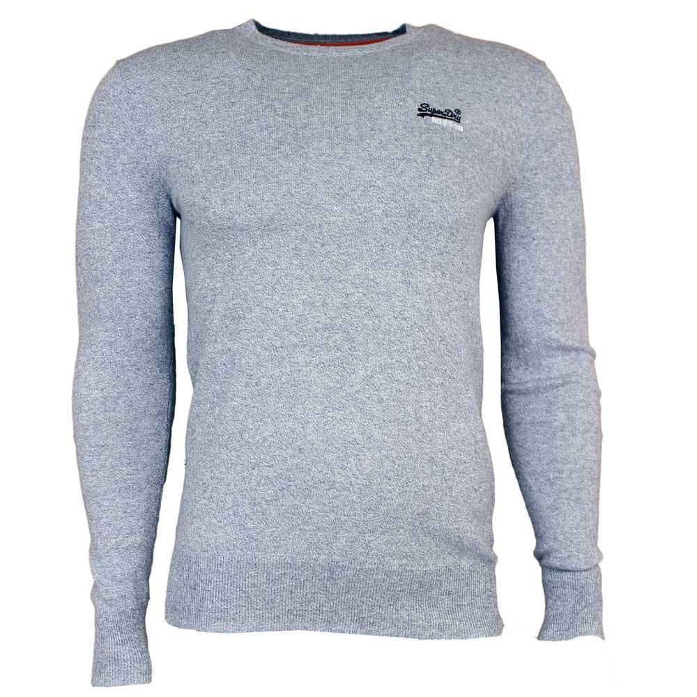 Superdry Mens Orange Label Crew Neck Jumper - Egret Blue - so-ldn