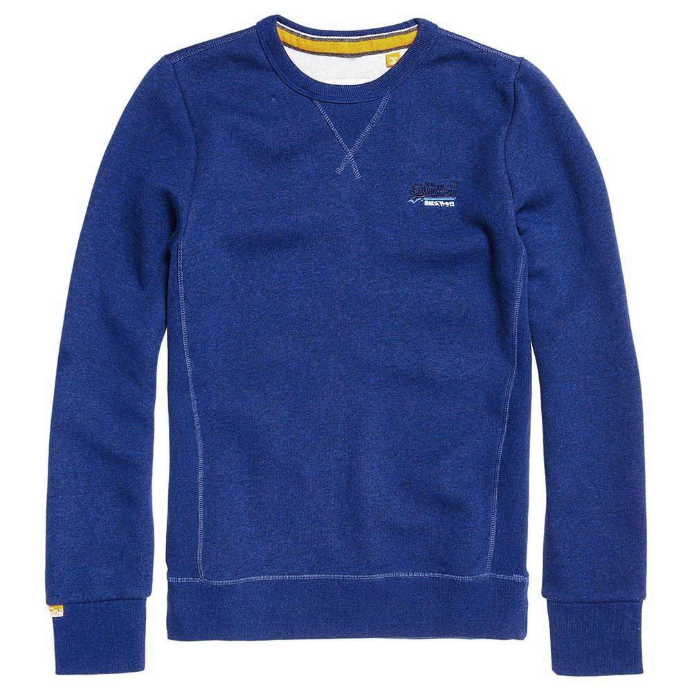 Superdry Orange Label Crew Sweatshirt - Sonic Blue Grindle - so-ldn