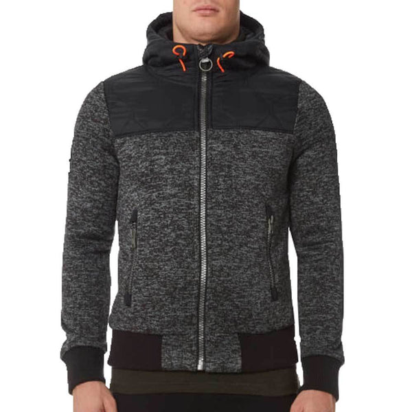 Superdry Men's Storm Mountain Hybrid Zip Hoody - Black/Grey Grit - so-ldn