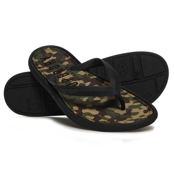 Superdry Surplus Goods Flip-Flops - Classic Camo / Black MF3004SQF2 - so-ldn