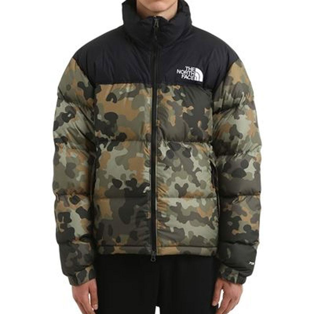 THE NORTH FACE 1996 Camo Retro Nuptse Jacket Green - so-ldn