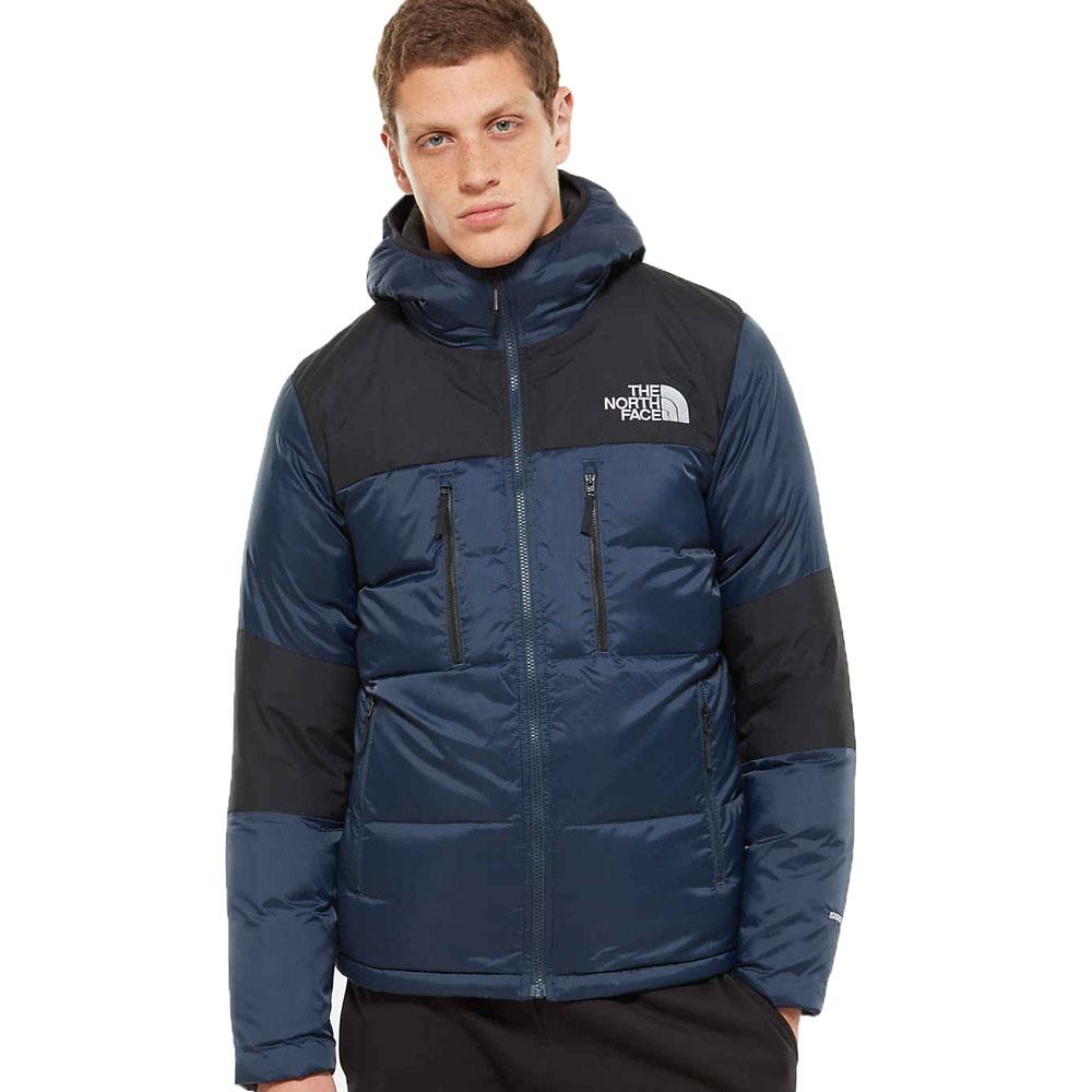 The North Face Himalayan Light Down Hooded Jacket - Navy And Black - so-ldn