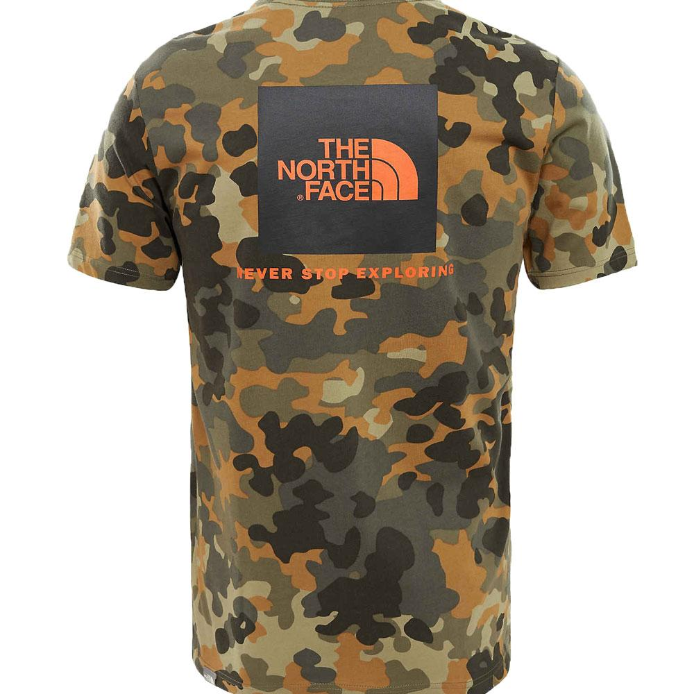 The North Face Red Box T-Shirt Macrofleck Camo Print - so-ldn