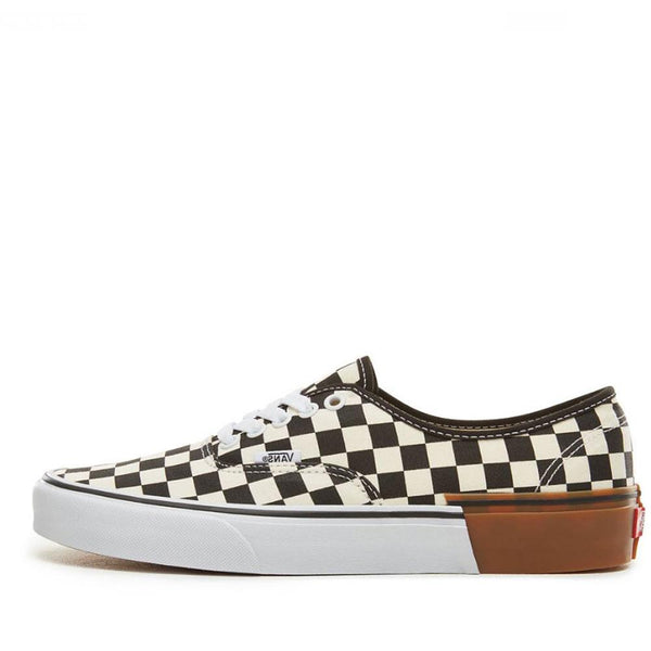 VANS Gum Block Authentic Trainers - Gum Block Checkerboard - Black White - so-ldn