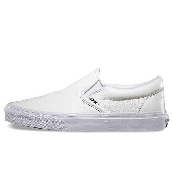 69321640a1 Vans Premium Leather Classic Slip-On Trainers - White Mono - VN0XG8EW8