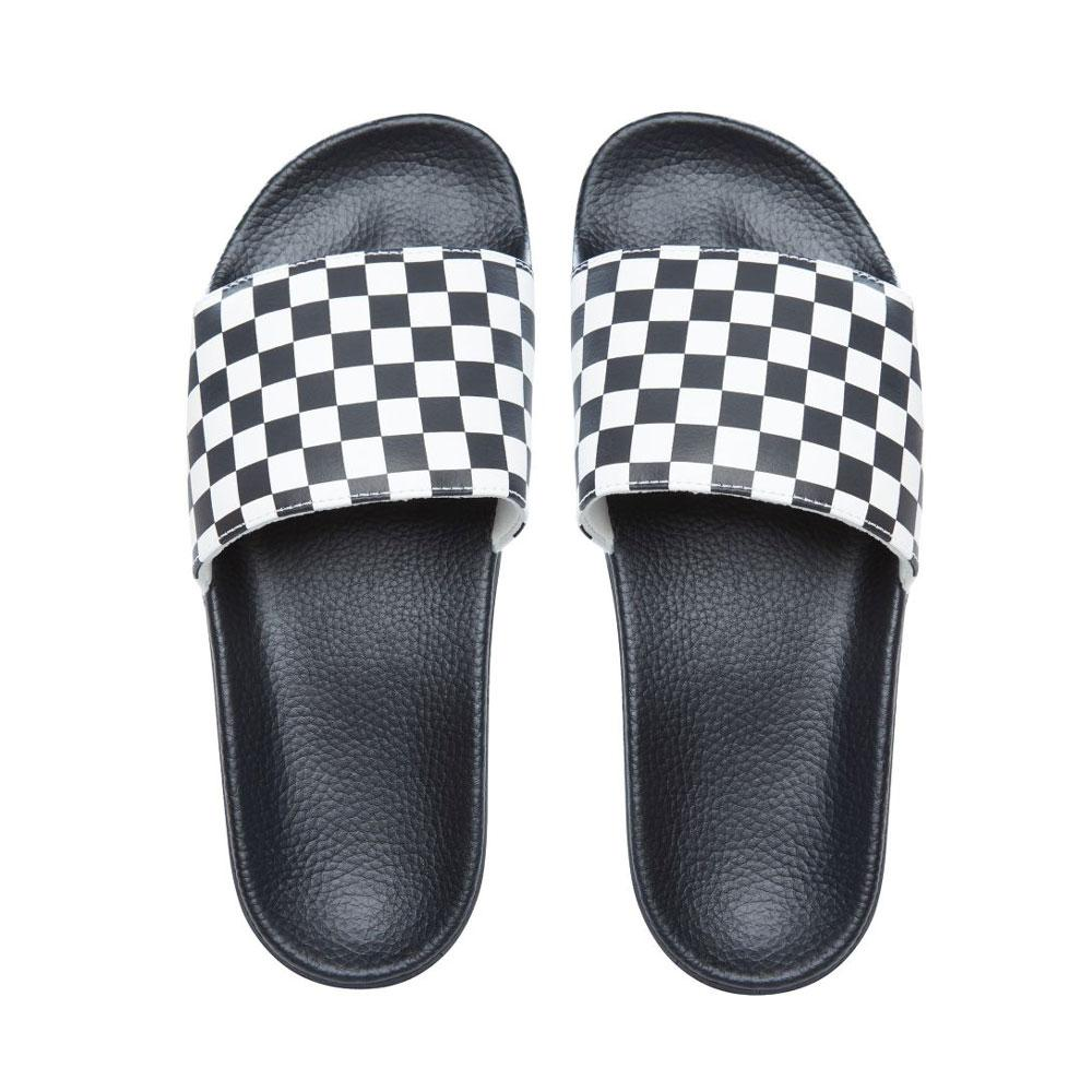 Vans checkerboard-slides - White - so-ldn