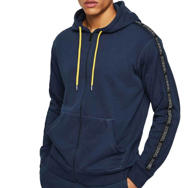Diesel UMLT-BRANDON-Z Zip-up Hoodie - Navy / Yellow 00SE8M