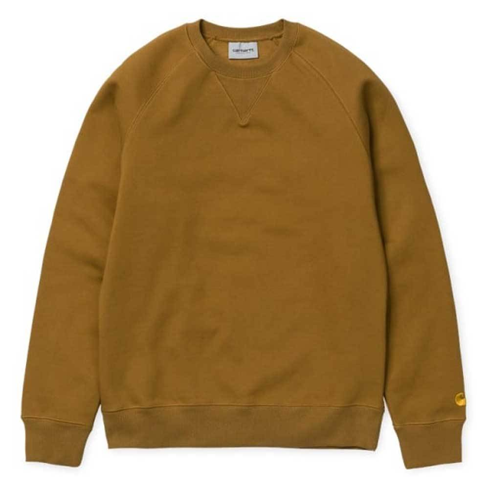 Carhartt Chase Sweatshirt - Hamilton Brown / Gold - so-ldn