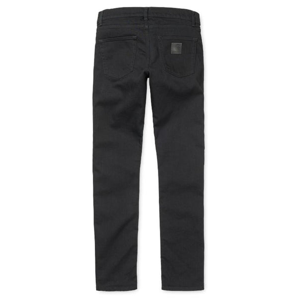 Carhartt WIP Rebel Pant Slim Fit Jeans - Black Rinsed Towner Denim - so-ldn