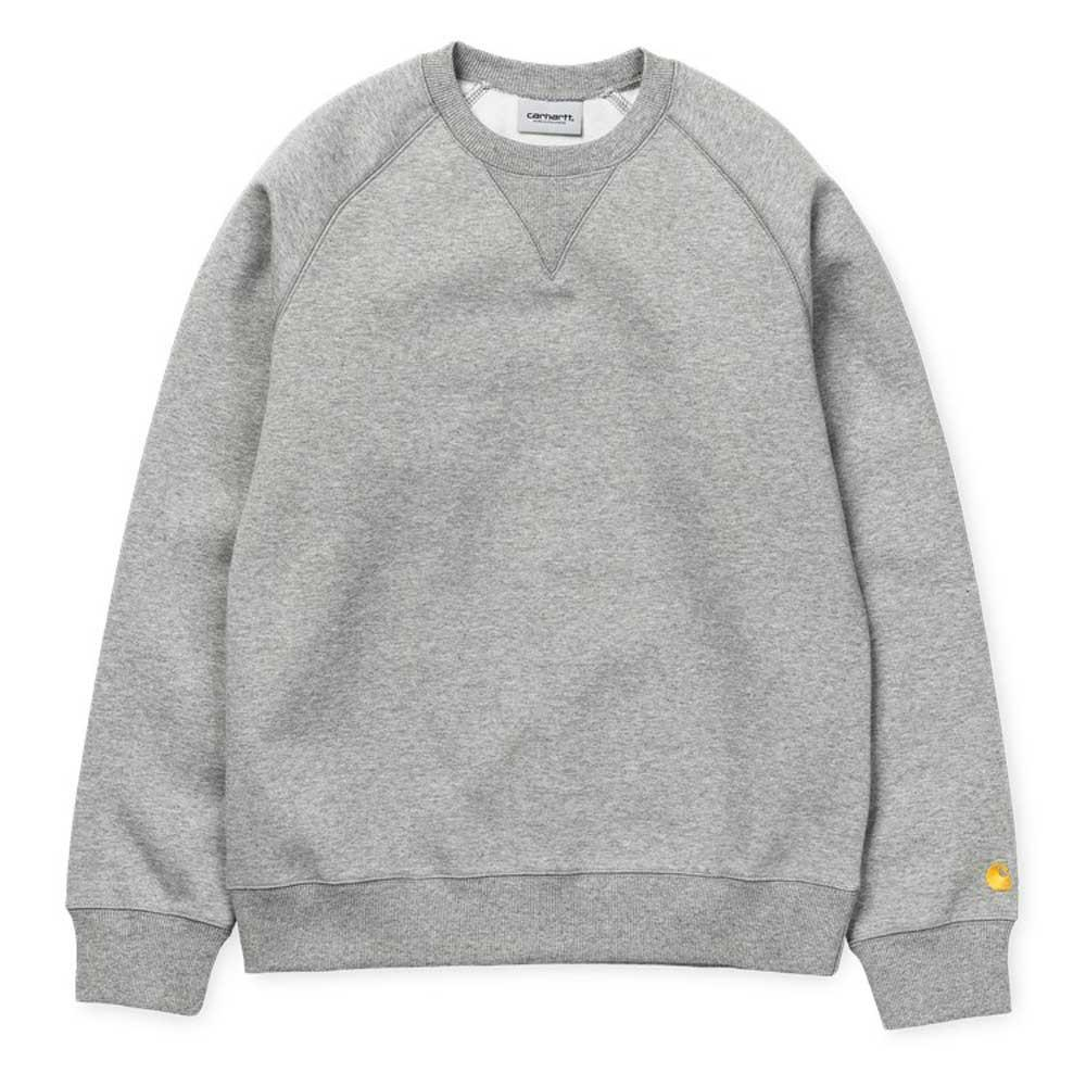 Carhartt WIP Chase Sweatshirt Jumper - Grey Heather - so-ldn