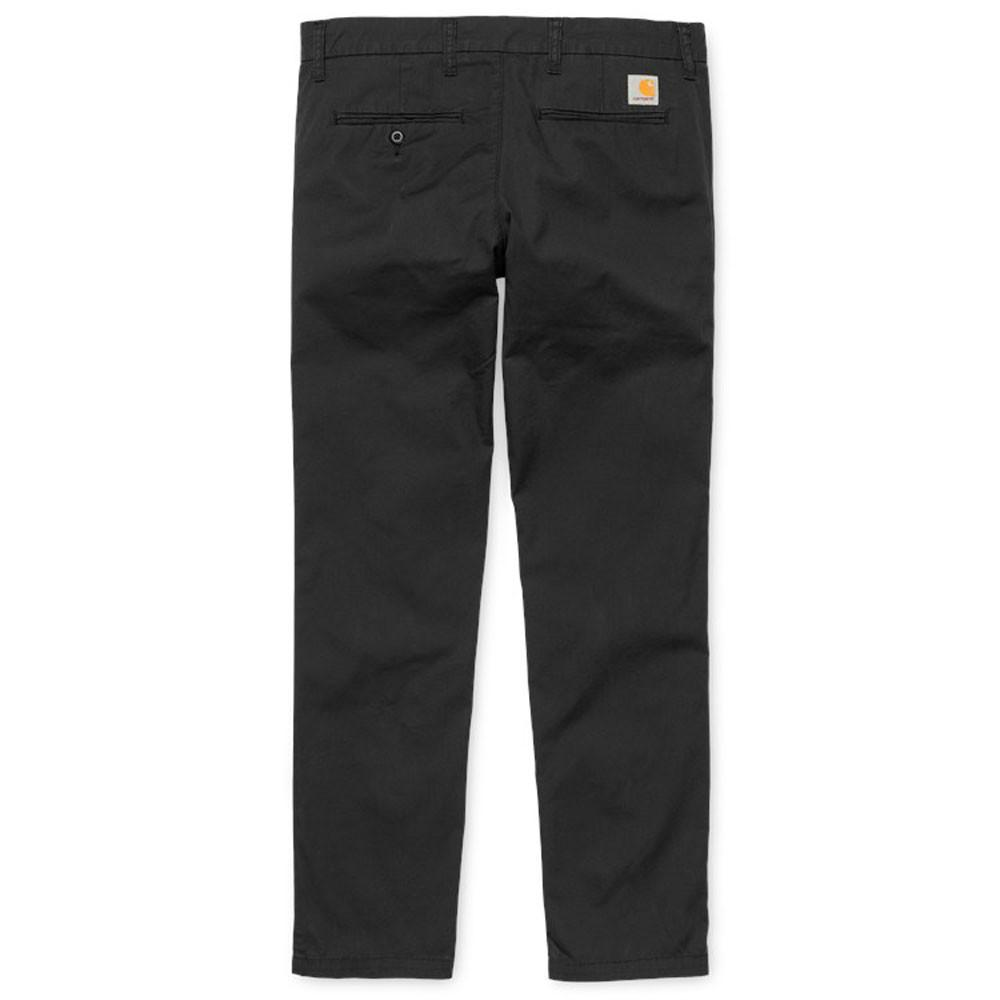 Carhartt WIP Sid Pant Chinos - Black Rinsed - so-ldn