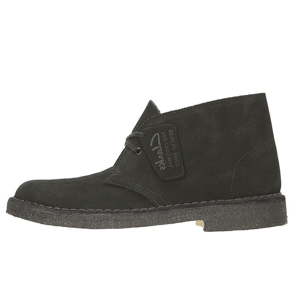 Clarks Originals Desert Boots - Black Suede - so-ldn