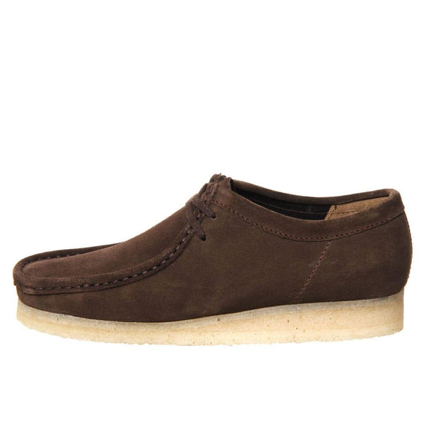 Clarks Originals Wallabee shoes - Dark Brown Suede - so-ldn