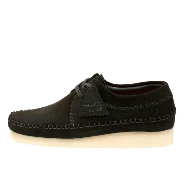 Clarks Originals Weaver Shoes - Black Suede - so-ldn