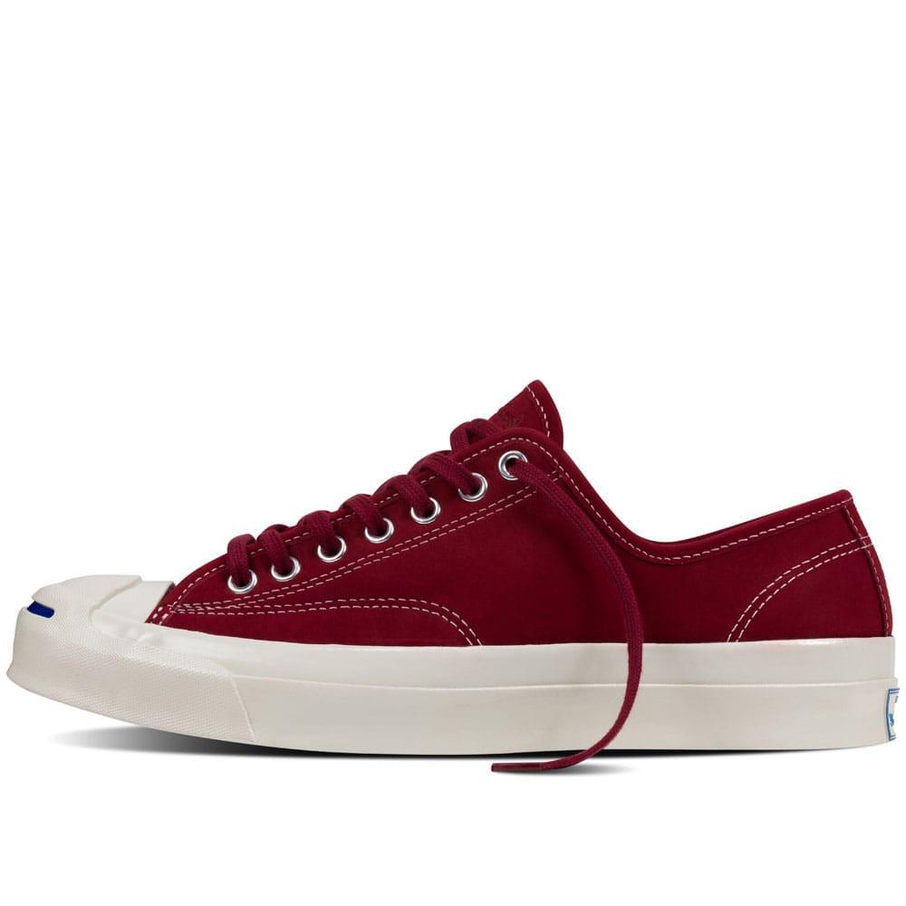 6ec816e22f37 Converse Jack Purcell Signature OX Nubuck - Red Block - so-ldn