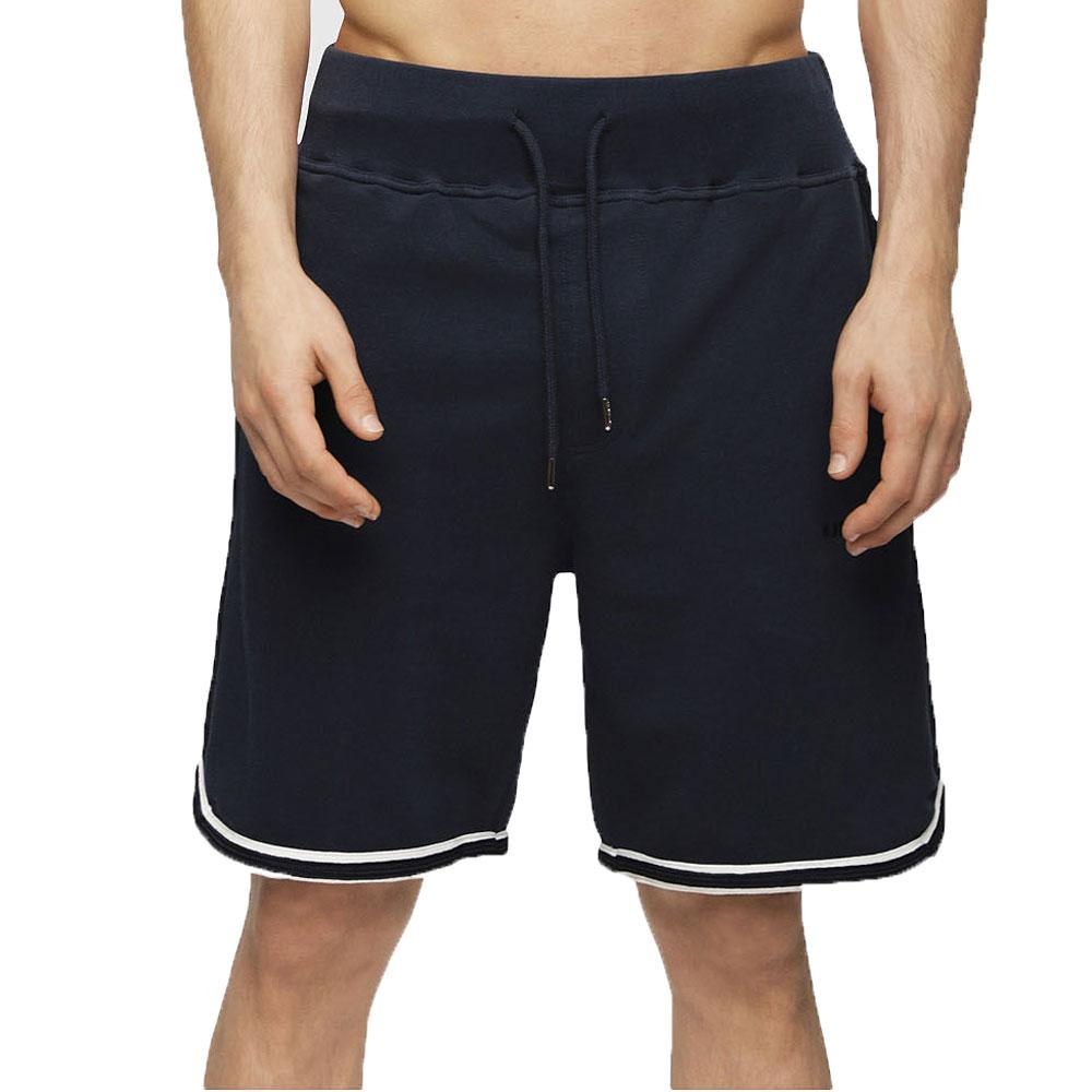Diesel UMLB-Pan Shorts Logo Lounge Tipped Sweat Shorts - Navy - so-ldn