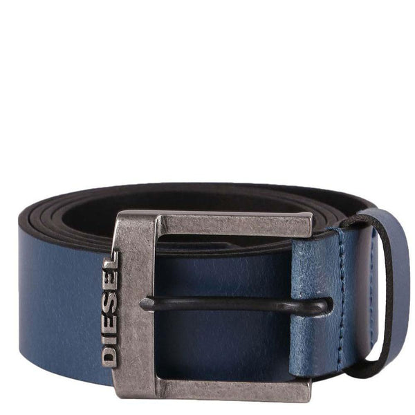 Diesel B-Deal Leather Belt - Blue - so-ldn