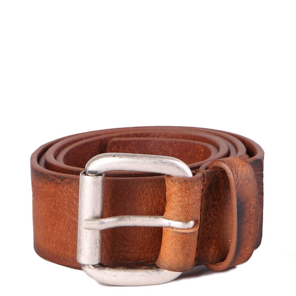 Diesel B-PROFILES - Leather Belt - cognac Brown - so-ldn