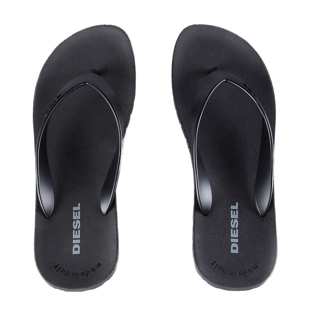 Diesel Splish Flip Flops - Black - so-ldn