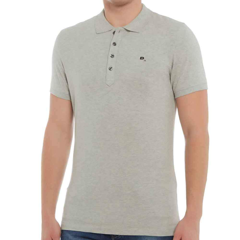 Diesel T-Heal Slim Fit Polo Shirt -  Grey - so-ldn