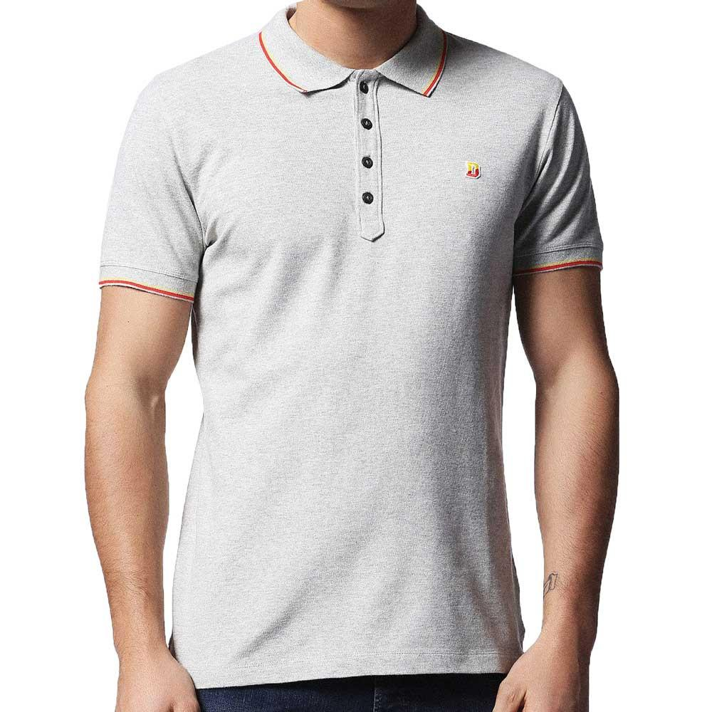 Diesel T-Skin Pique Tipped Polo Shirt - Grey - so-ldn