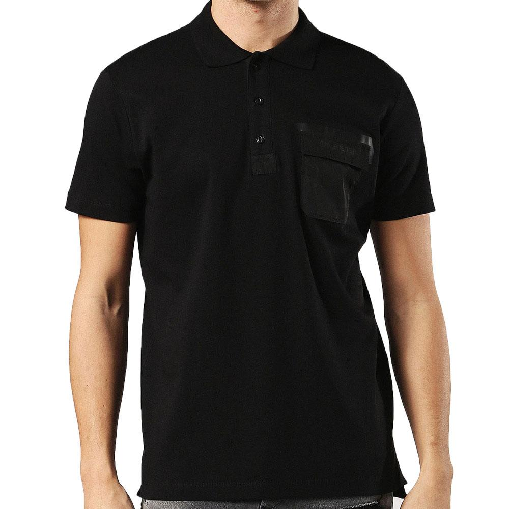 Diesel T-Temp Patch Pocket Polo Shirt - Black - so-ldn