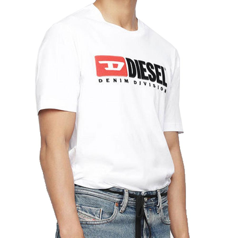 Diesel T-Just-Division industry logo T-shirt - White - so-ldn