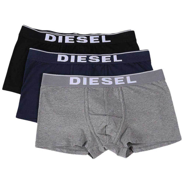 Diesel Navy / Black / Grey UMBX-DAMIEN  3 Pack Boxer Trunks - so-ldn