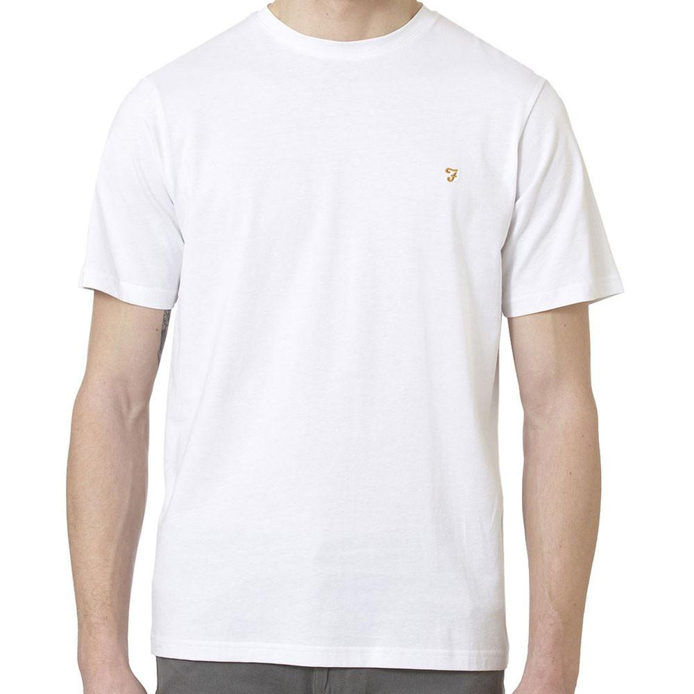 Farah Denny Crew Neck T-Shirt - White - so-ldn