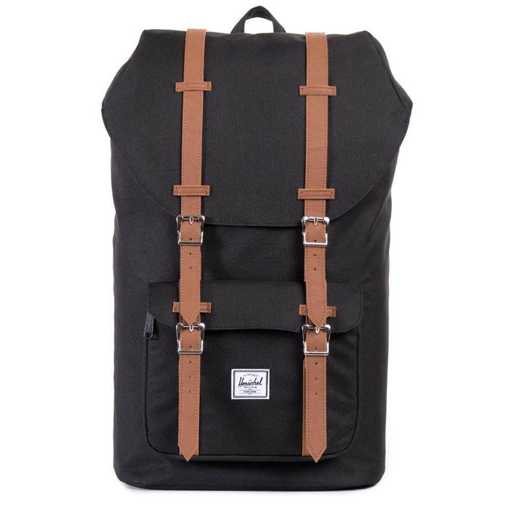 Herschel Supply Co. Little America Laptop BackPack - Black / Tan - so-ldn