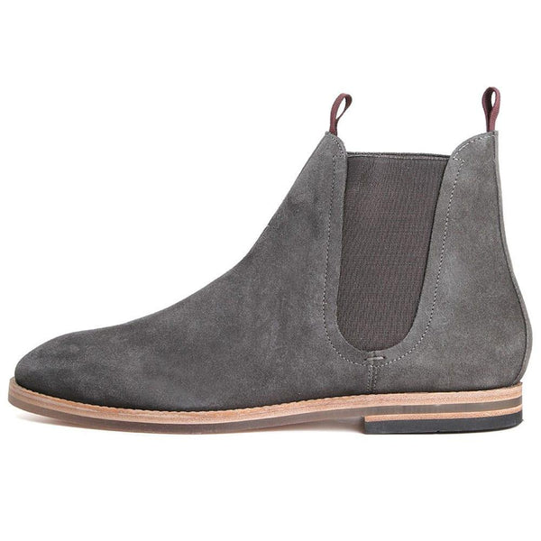 Hudson Shoes Eldon Chelsea Boot Suede - Charcoal Grey - so-ldn