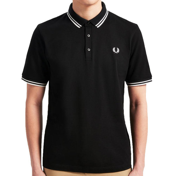 Fred Perry Made in Japan Pique Polo Shirt - 321 BLACK