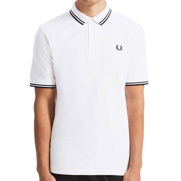 Fred Perry Made in Japan Pique Polo Shirt - White M102