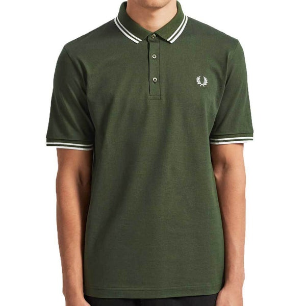 Fred Perry Made in Japan Pique Polo Shirt - Dark Fern Green M102