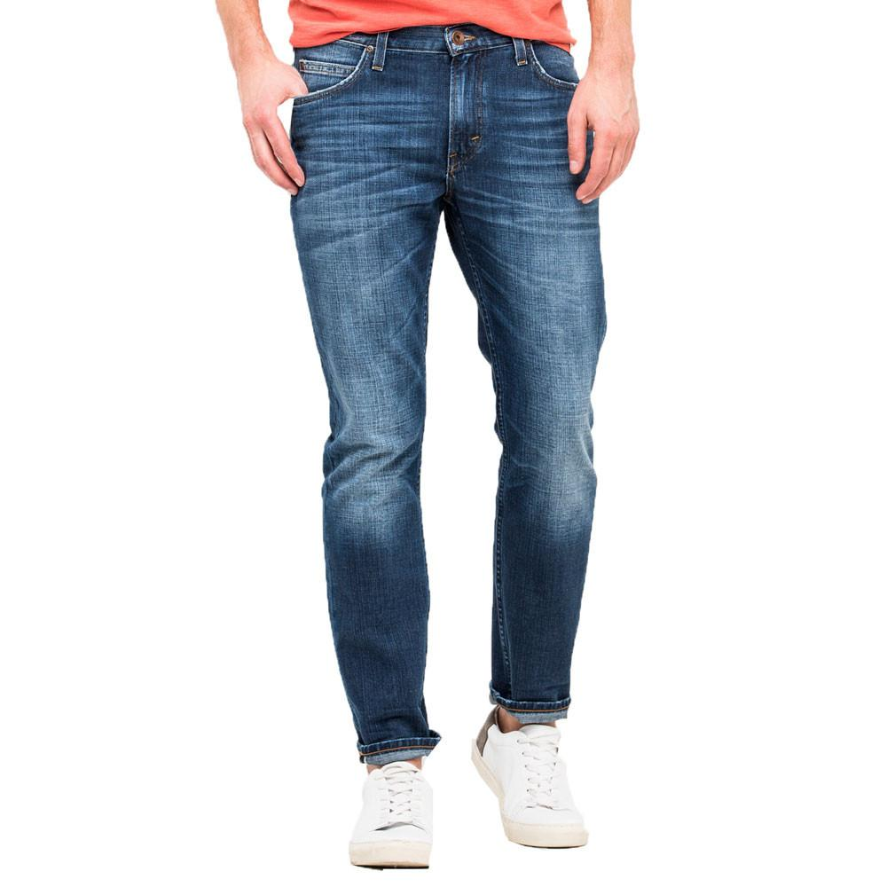 Lee Rider Slim Fit Denim Jeans - Favourite Blue - so-ldn
