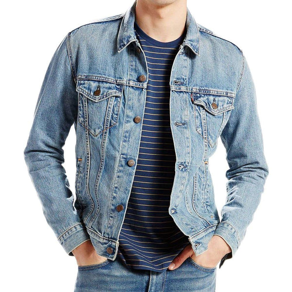 Levis Denim Trucker Jacket - Icy Blue - so-ldn