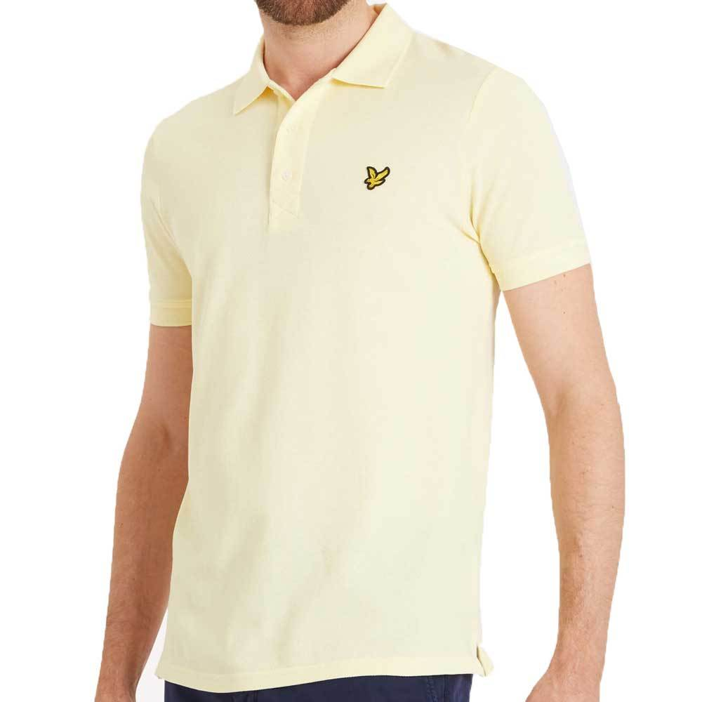 Lyle And Scott Plain Polo Shirt - Butter Cream Yellow - so-ldn