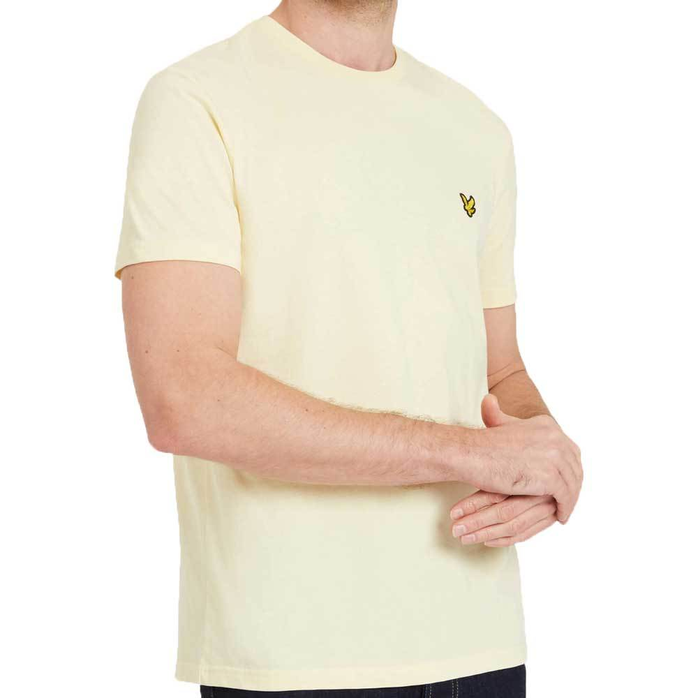 Lyle And Scott Crew Neck T-Shirt - Butter Cream Yellow - so-ldn