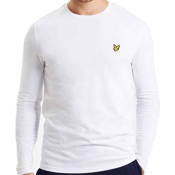 3f3d72200466 Lyle & Scott Long Sleeve Crew Neck T-Shirt - White