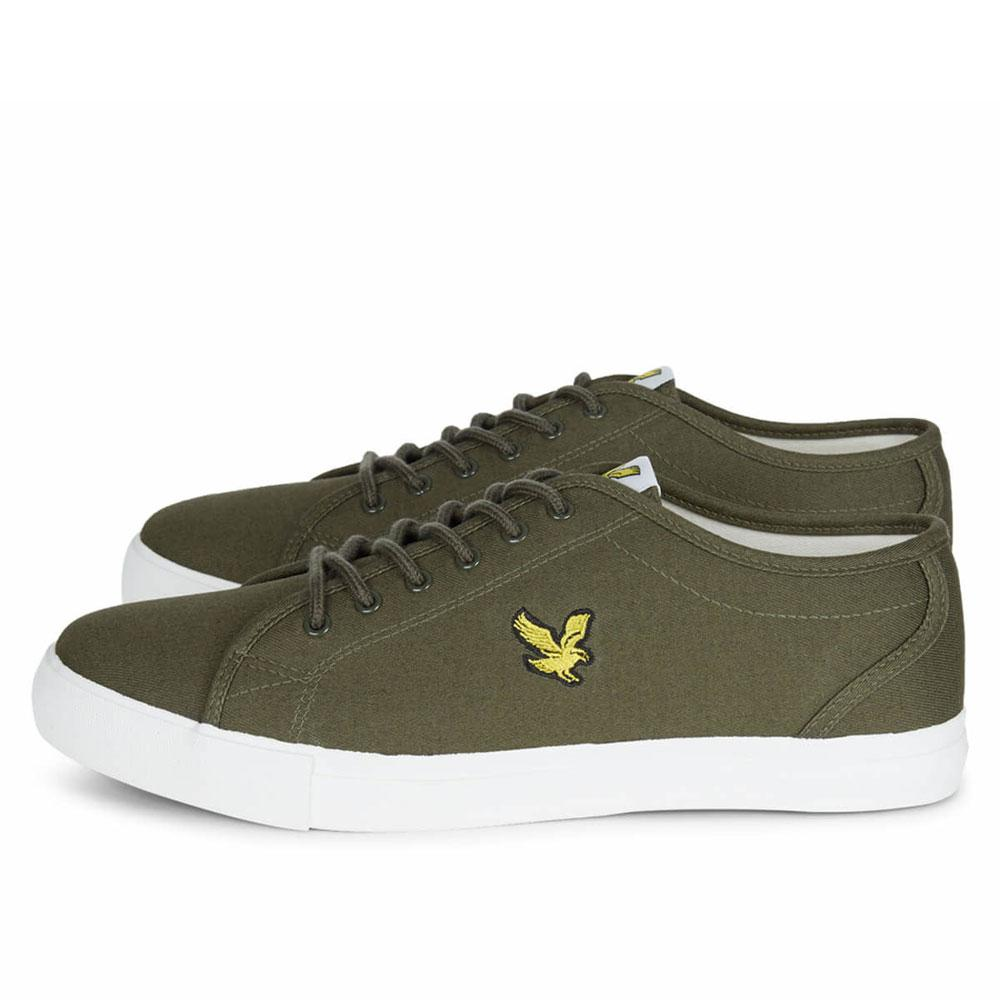 57e48874ac70 Lyle And Scott Teviot Canvas Plimsoll Trainers - Olive Twill - so-ldn