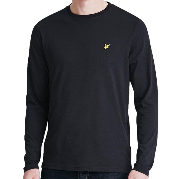 5d711353 Lyle & Scott Long Sleeve Crew Neck T-Shirt - True Black