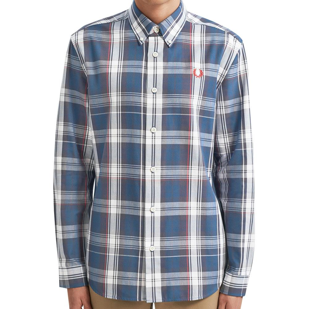 Fred Perry Authentic Midnight Blue Twill Check Shirt - M7567