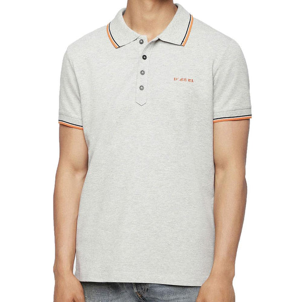 Diesel Men's T-Randy Broken Polo Shirt - Grey - so-ldn