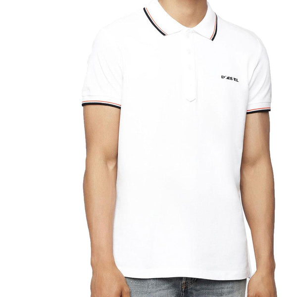 Diesel Men's T-Randy Broken Polo Shirt - White - so-ldn