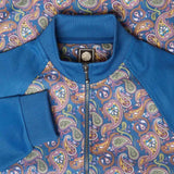 Pretty Green Vintage Paisley Track Top - Blue - so-ldn