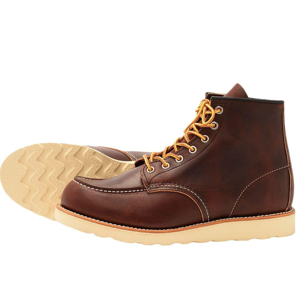Red Wing 8138 Heritage Work Moc Toe Boot -Brown - so-ldn