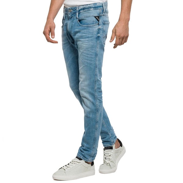 Replay Anbass Slim Fit Light Blue Jeans M914-63C-929 - so-ldn