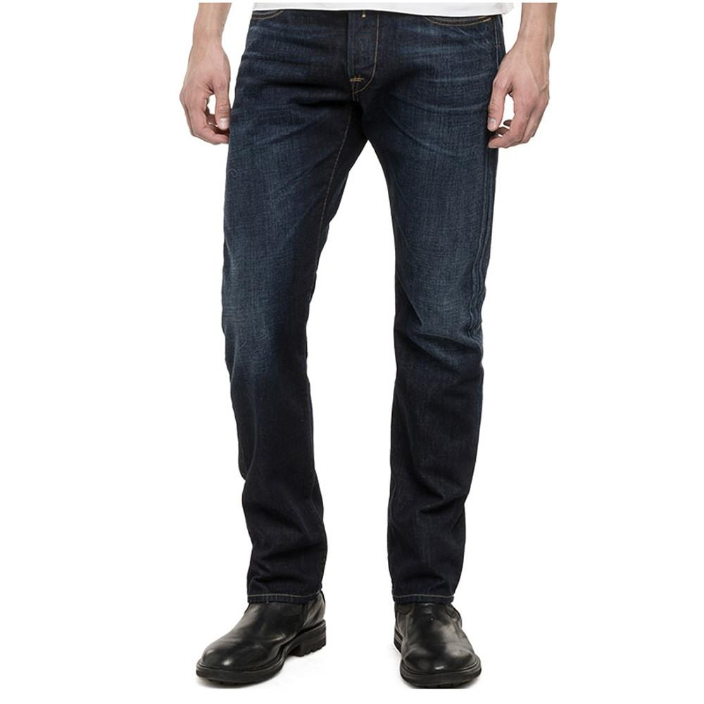 Replay Waitom Regular Slim-Fit Jeans - Medium Wash-Deep Blue - so-ldn