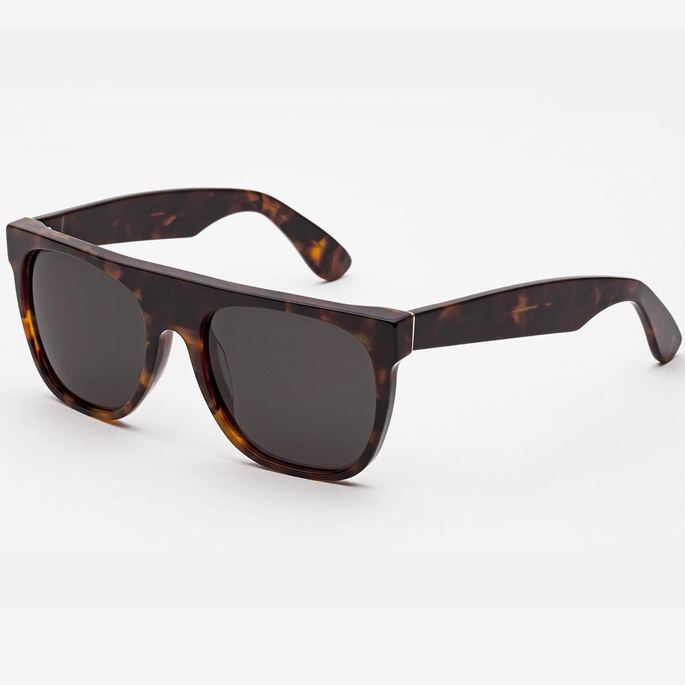 Super By RetroSuperFuture Flat Top Havana Brown Sunglasses - so-ldn