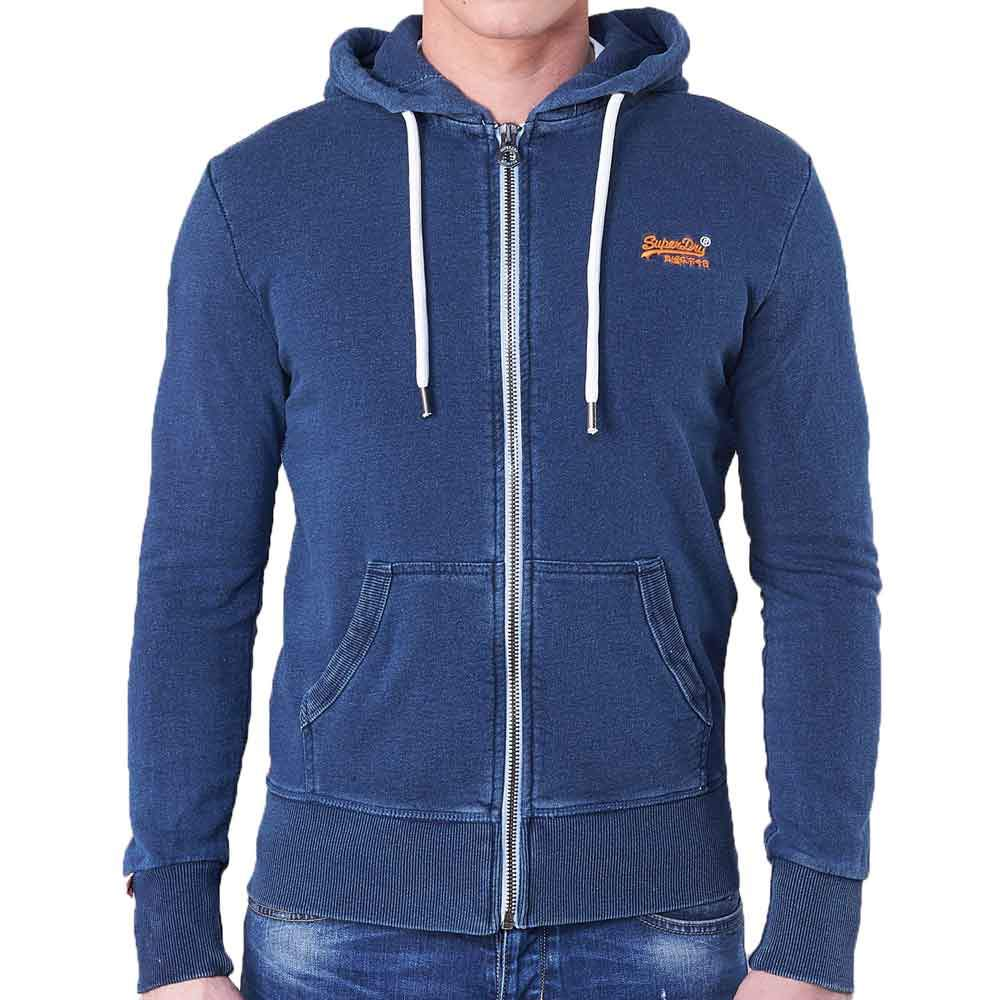 Superdry Orange Label Lite Zip Up Hoodie - Light Marine Indigo - so-ldn